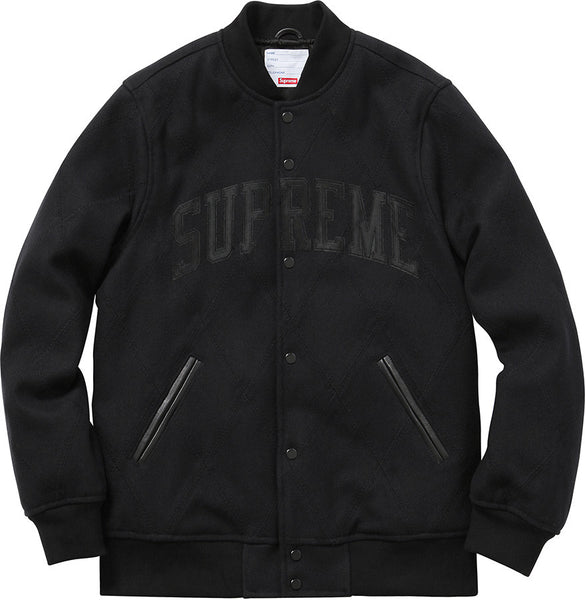 SUPREME HARLEQUIN WOOL VARSITY JACKET