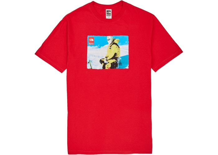 """SUPREME X THE NORTH FACE TEE """"RED"""""""