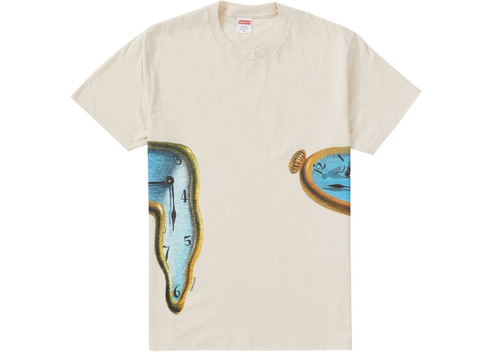 """SUPREME THE PERSISTENCE OF MEMORY TEE """"NATURAL"""""""