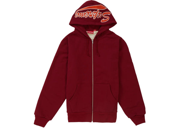 SUPREME THERMAL ZIP UP SWEATSHIRT