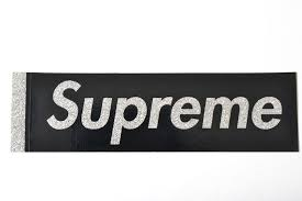 SUPREME SPARKLE BOX LOGO STICKER