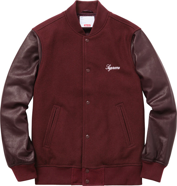 SUPREME WOOL VARSITY CREW JACKET