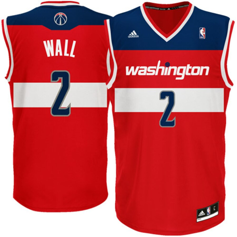 newest collection 33df3 fcd6d ADIDAS WIZARDS JOHN WALL JERSEY