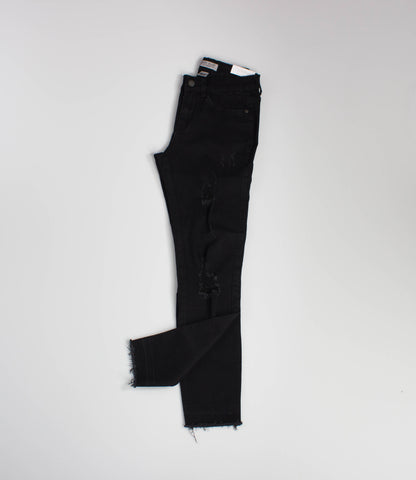 Black Destructed Skinnies