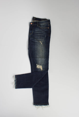 Raw Hem Cropped Skinnies