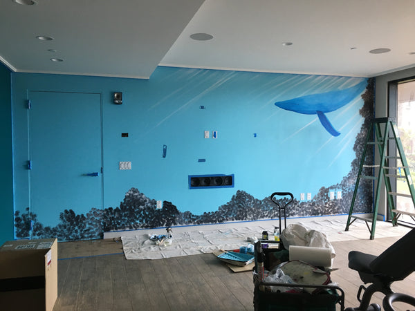 Hawaii artist Jan Tetsutani commissioned to paint mural at Timbers Kauai, Hawaii