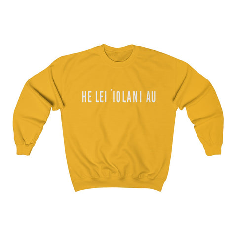 Gold sweatshirt hawaiian language i am a child of god