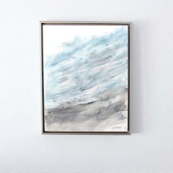 Modern coastal decor titled 'Cherished Moment' by Hawaii artist Jan Tetsutani