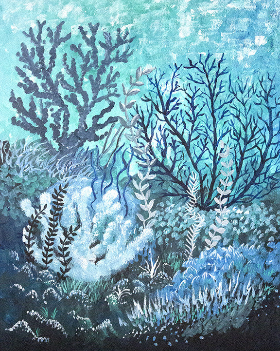 'Cool Coral' Original Acrylic Painting