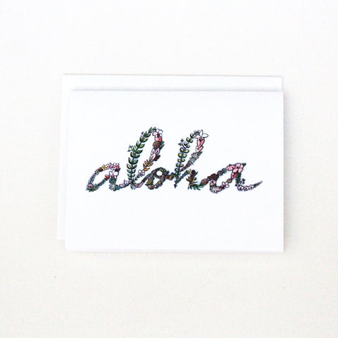 'Flowers in Aloha' Cards