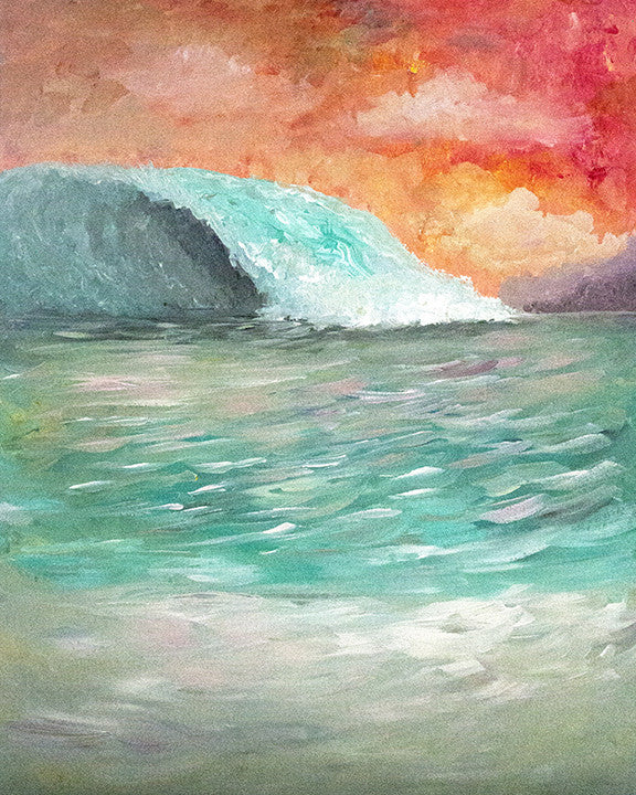 'Freak Wave' Original Acrylic Painting