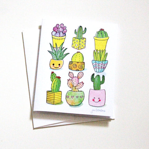 'Happy Cacti' Cards