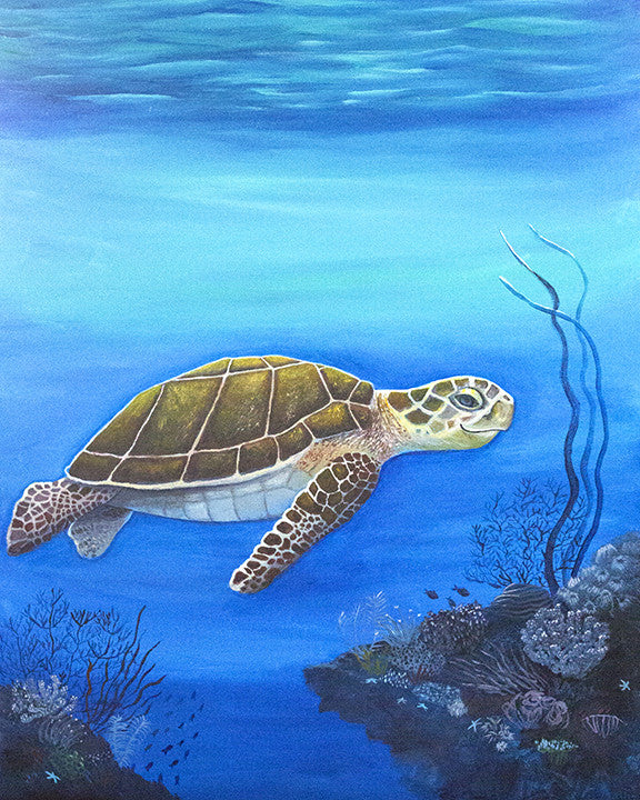 'Happy Honu' Original Acrylic Painting