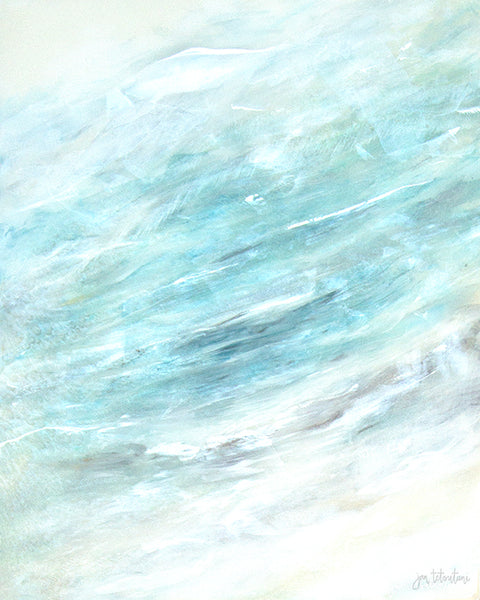 Coastal art titled 'Lavished' an Original Art Painting by Jan Tetsutani