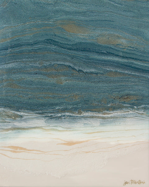 New Shores 1 - Jan Tetsutani - Resin Painting