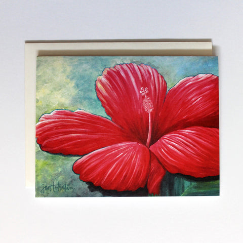 'Red Hibiscus' Cards