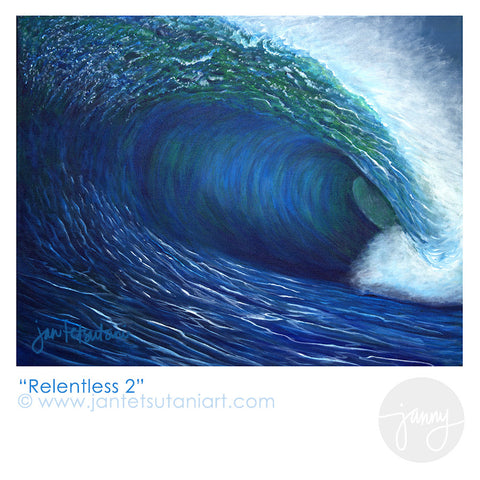 'Relentless 2' Art Print