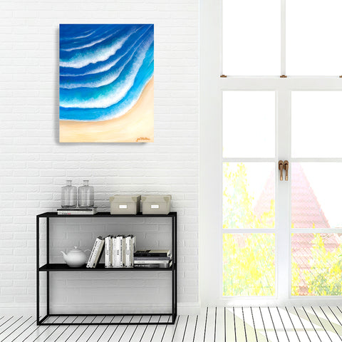 'Rhythm Of The Waves' Original Acrylic & Resin Painting