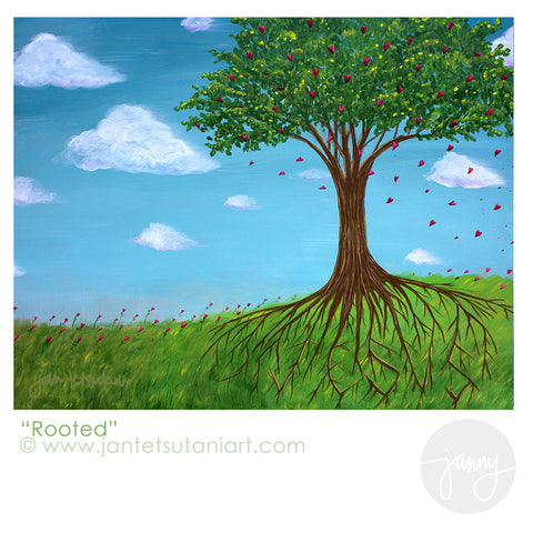 'Rooted in Jesus' Art Print