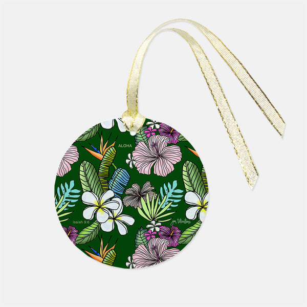 Tropical pattern Christmas ornament