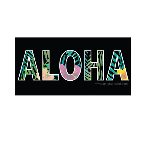 'Aloha Jungle' Vinyl Sticker