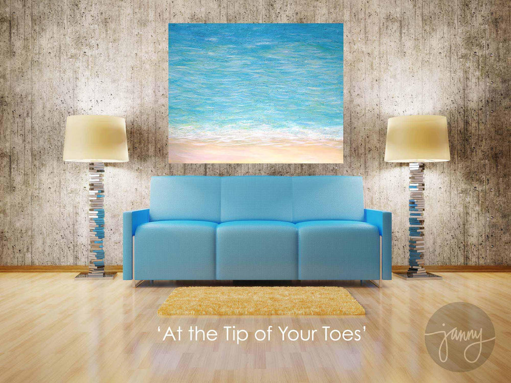'At The Tip Of Your Toes' Original Acrylic Abstraction Painting