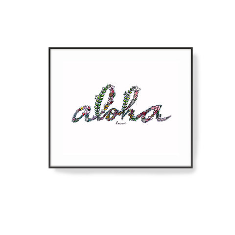 'Flowers in Aloha' Art Print