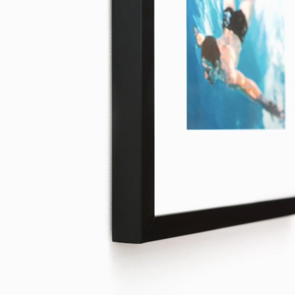Custom picture frame, mat & assembly for 11 X 14 art prints