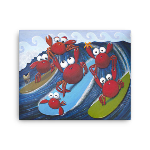 'Crab Ohana Day' Canvas Art Print