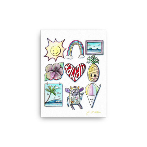 'Hawaii Love' 12 x 16 Canvas Art Print