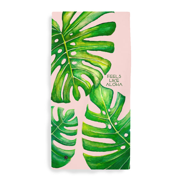 Monstera Microfiber Beach Towel by Jan Tetsutani