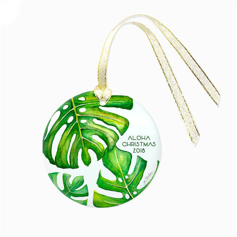 Monstera Christmas Ornament
