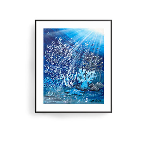 moonlight coral 2 by jan tetsutani coral art underwater art