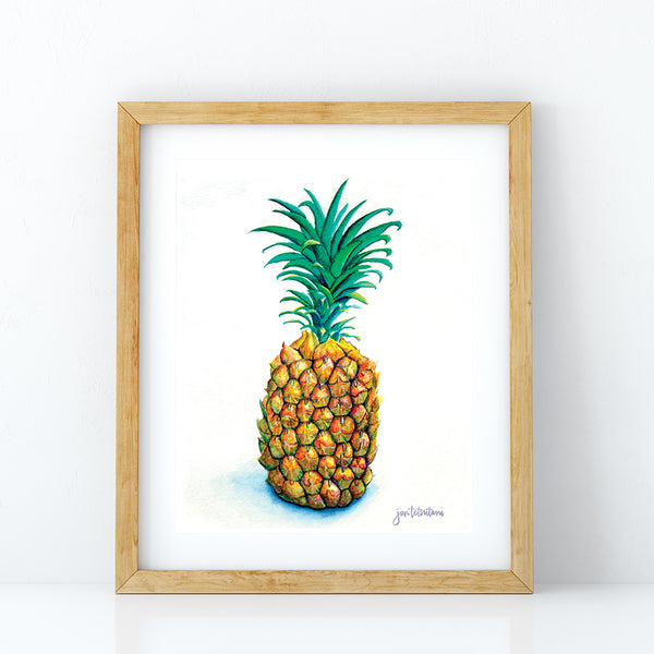 Pineapple painting Pass me the pineapple art print by Jan Tetsutani