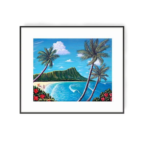Diamond Head Painting by Hawaii artist Jan Tetsutani