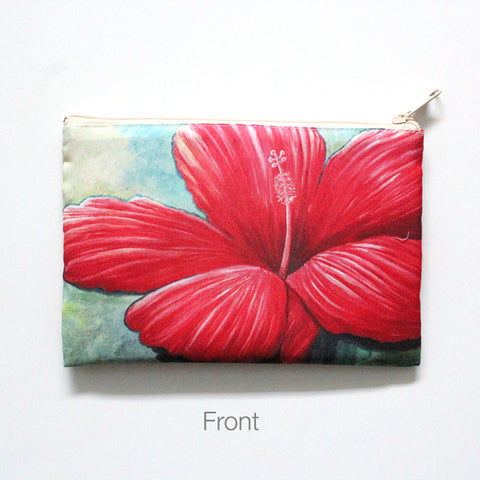 'Red Hibiscus' Beach Clutch