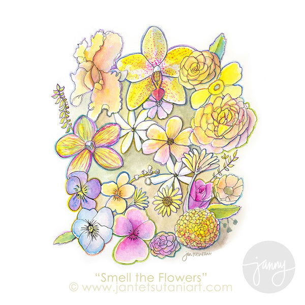'Smell the Flowers' Art Print