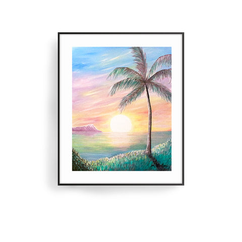 stillness at sunrise art print by jan tetsutani beach art