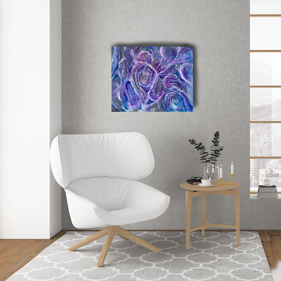 Unity Abstract Art - Jan Tetsutani  - Ultra Violet - 2018 Color of the year - ultra violet - wall art - wall decor