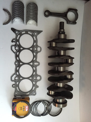 Honda Civic 1.7L D17A Crankshaft with Bearings, Set of Rings, Head Gasket Graphite, connecting Rod