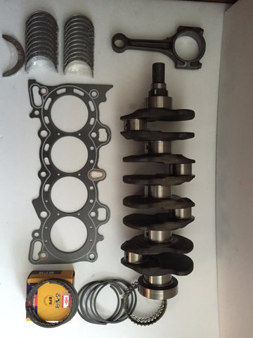 Honda 1.6 D16Y8 or Y7 Crankshaft with Bearings,Set of Rings,Graphite Head Gasket, 4 Connecting Rod, 1996-2000