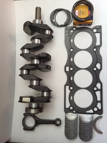 Nissan 2.5 QR25DE Crankshaft with bearings, Set of Rings, Graphite Head Gasket,Connecting Rod 02-06