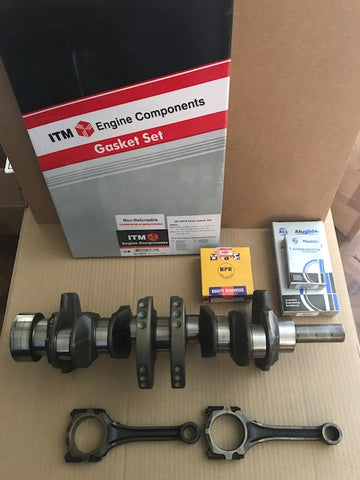 Nissan 2.4 K24 Pick up Crankshaft with Bearings, NPR ring set, Full set Gasket, with 2 connecting Rods