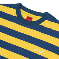 Stripe Tee - Yellow & Blue
