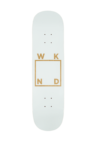 Wood and White Logo Deck - 8.25""