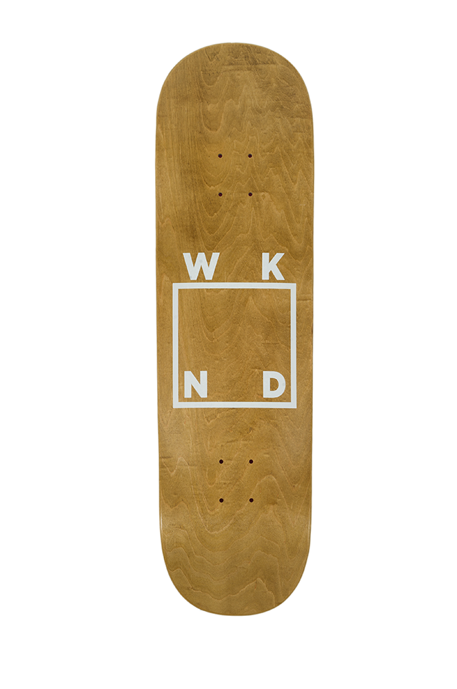 Stained Wood Veneer on White Logo Deck - 8.6""