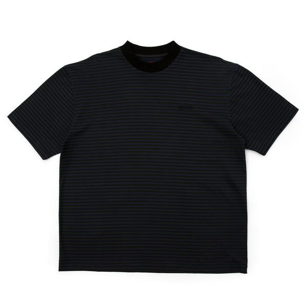 Stripe Tee - Black & Blue