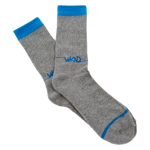 Line Logo Sock- Grey/Blue