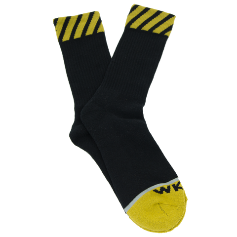 Caution Sock - Green/Black