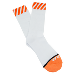 Caution Sock - Orange/White
